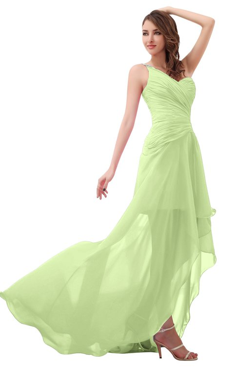 ColsBM Paige Butterfly Romantic One Shoulder Sleeveless Brush Train Ruching Bridesmaid Dresses