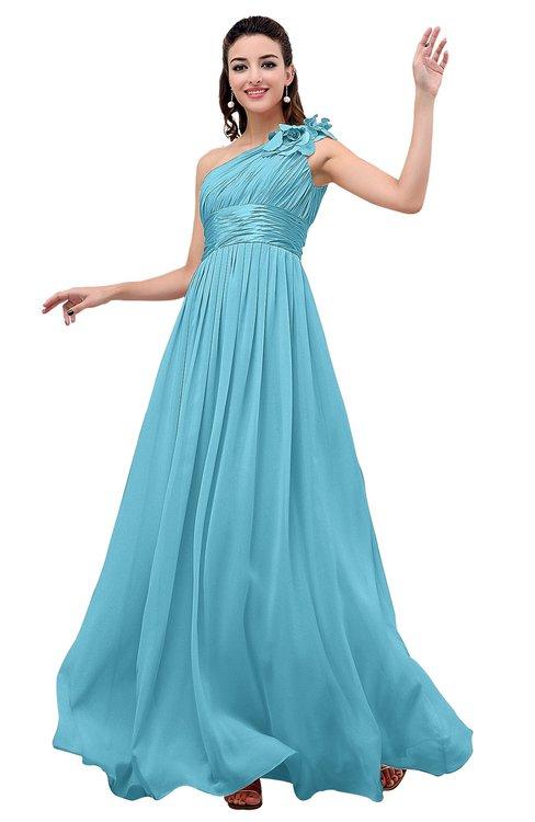 ColsBM Leilani Light Blue Cinderella A-line Asymmetric Neckline Sleeveless Zipper Chiffon Bridesmaid Dresses