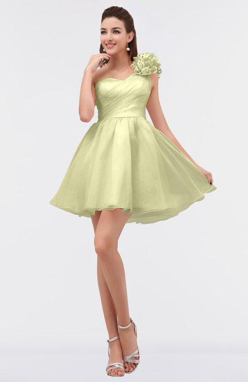 ColsBM Itzel Daffodil Elegant A-line Sleeveless Zip up Short Flower Bridesmaid Dresses