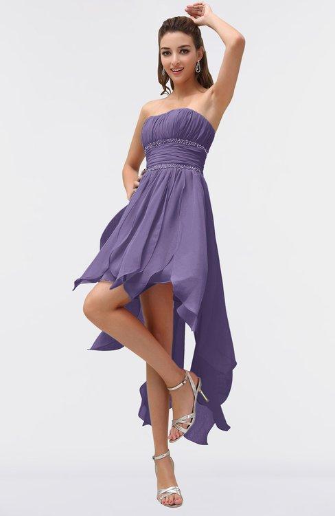 9e35d836ceca ColsBM Maria Chalk Violet Romantic A-line Strapless Zip up Ruching  Bridesmaid Dresses