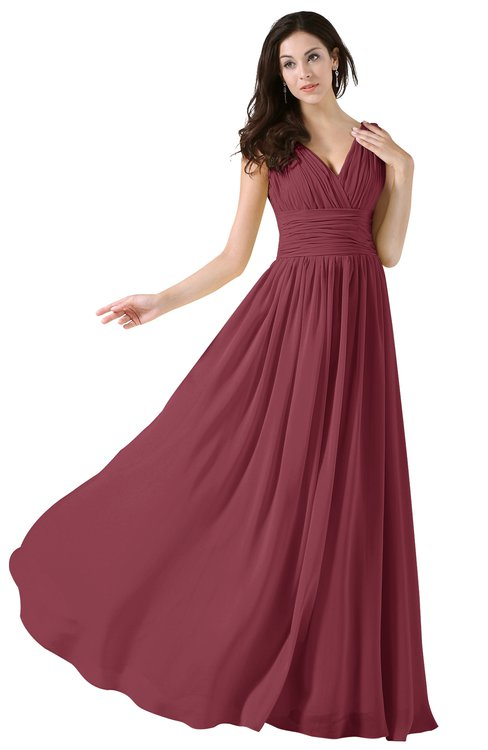 Burgundy Bridesmaid Dresses Wine Color Burgundy Gowns Colorsbridesmaid