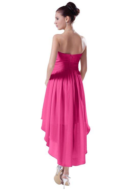 800ff8984cf21 ... ColsBM Victoria Rose Pink Hawaiian A-line Sleeveless Chiffon Tea Length  Ruching Evening Dresses