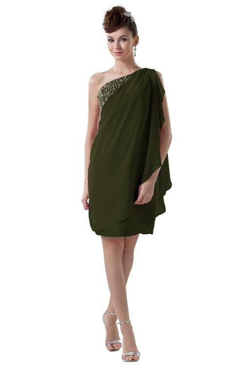 ColsBM Layla Beech Informal Sheath Backless Chiffon Knee Length Paillette Homecoming Dresses