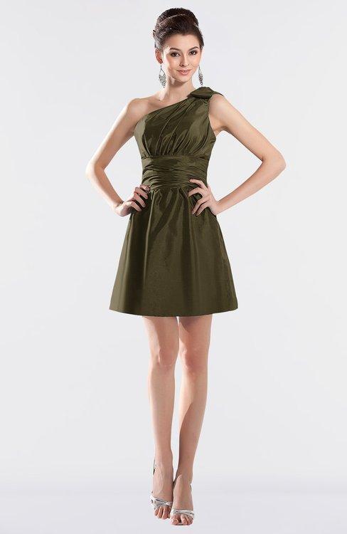 ColsBM Kailani Beech Cute A-line Asymmetric Neckline Half Backless Short Ruching Bridesmaid Dresses