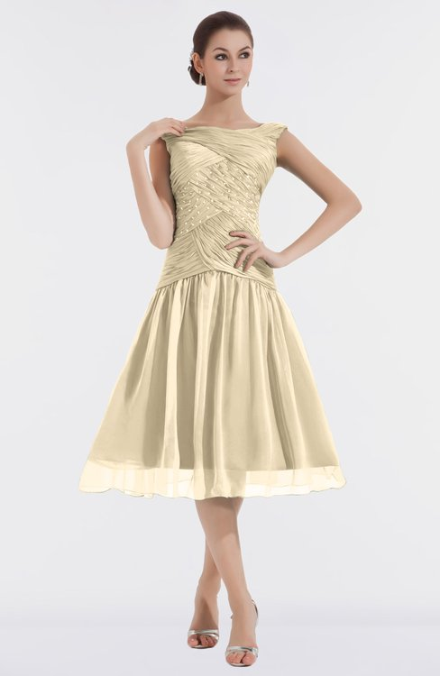 ColsBM Alissa Angora Cute A-line Sleeveless Knee Length Ruching Bridesmaid Dresses