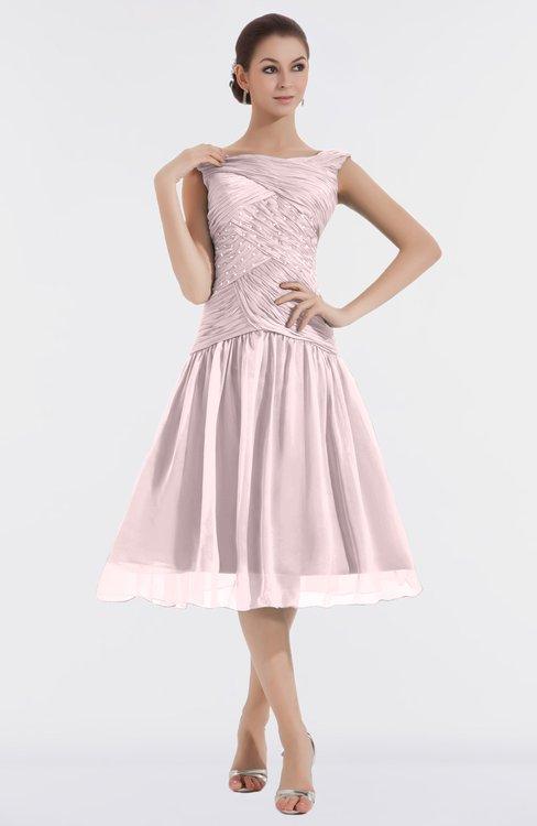 ColsBM Alissa Blush Cute A-line Sleeveless Knee Length Ruching Bridesmaid Dresses