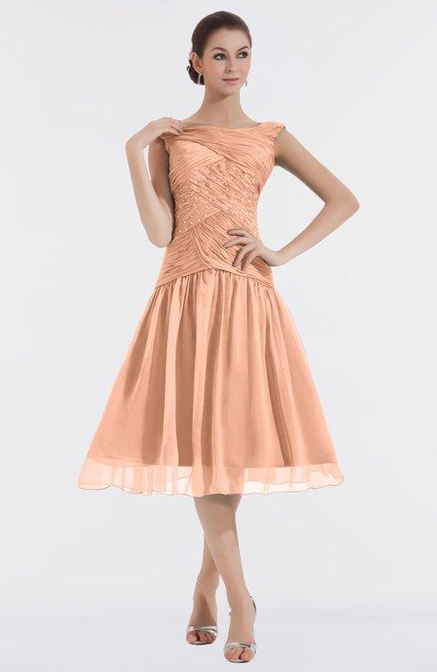 ColsBM Alissa Coral Reef Cute A-line Sleeveless Knee Length Ruching Bridesmaid Dresses