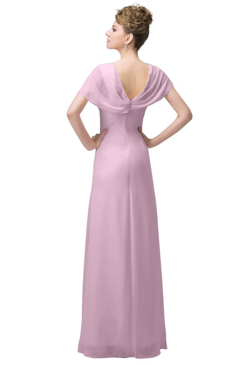 f5c049f88a7 ... ColsBM Luna Baby Pink Casual A-line Square Short Sleeve Floor Length  Plus Size Bridesmaid