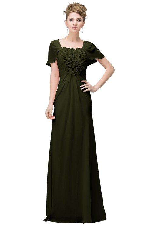 ColsBM Luna Beech Casual A-line Square Short Sleeve Floor Length Plus Size Bridesmaid Dresses