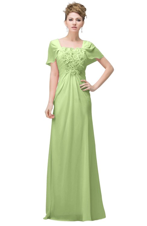 ColsBM Luna Butterfly Casual A-line Square Short Sleeve Floor Length Plus Size Bridesmaid Dresses