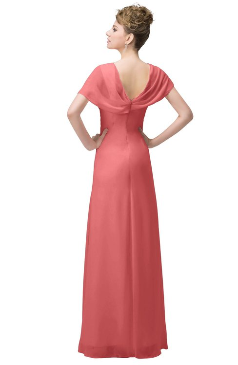 Colsbm Luna Coral Bridesmaid Dresses Colorsbridesmaid