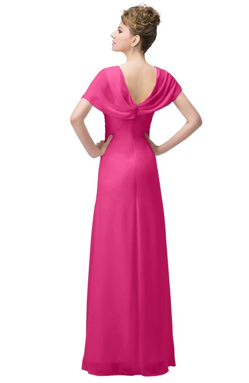 89ef7ad6a2a ... ColsBM Luna Rose Pink Casual A-line Square Short Sleeve Floor Length  Plus Size Bridesmaid