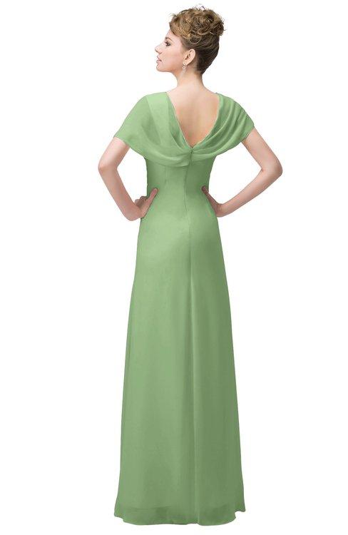 285582b2f505 ... ColsBM Luna Sage Green Casual A-line Square Short Sleeve Floor Length  Plus Size Bridesmaid