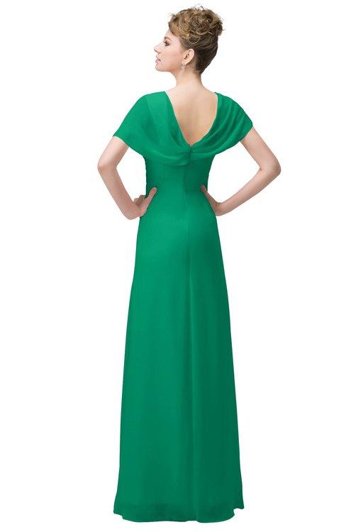 cd78d0e14c2c ... ColsBM Luna Sea Green Casual A-line Square Short Sleeve Floor Length  Plus Size Bridesmaid