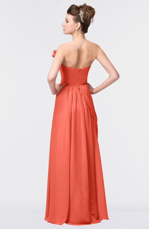 Colsbm Gwen Living Coral Bridesmaid Dresses Colorsbridesmaid