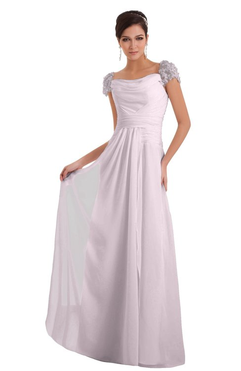 ColsBM Carlee Blush Elegant A-line Wide Square Short Sleeve Appliques Bridesmaid Dresses