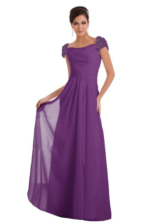 ColsBM Carlee Dahlia Elegant A-line Wide Square Short Sleeve Appliques Bridesmaid Dresses