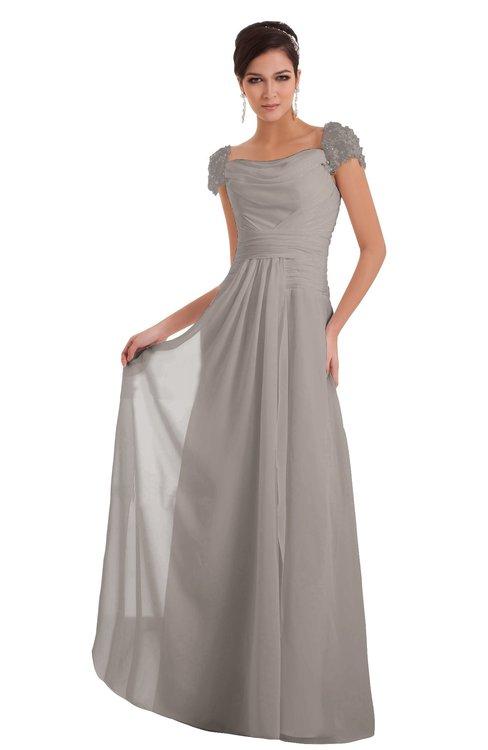 ColsBM Carlee Fawn Elegant A-line Wide Square Short Sleeve Appliques Bridesmaid Dresses