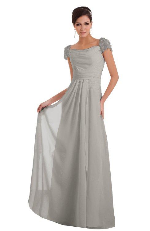 ColsBM Carlee Hushed Violet Elegant A-line Wide Square Short Sleeve Appliques Bridesmaid Dresses