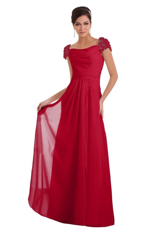 ColsBM Carlee Lollipop Elegant A-line Wide Square Short Sleeve Appliques Bridesmaid Dresses