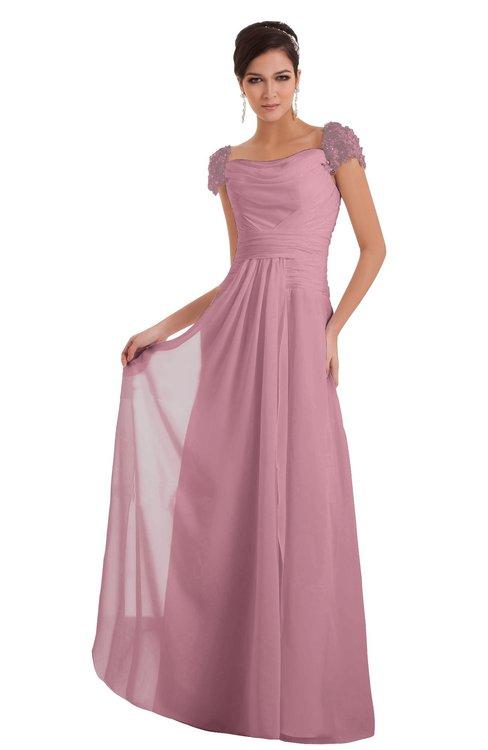 ColsBM Carlee Rosebloom Elegant A-line Wide Square Short Sleeve Appliques Bridesmaid Dresses