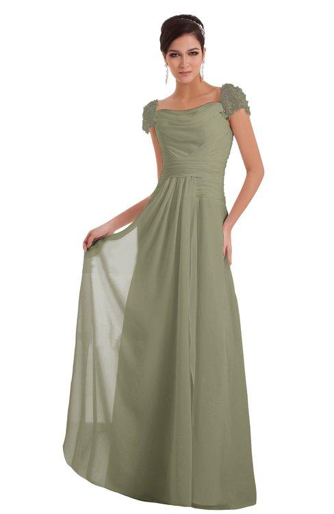 ColsBM Carlee Sponge Elegant A-line Wide Square Short Sleeve Appliques Bridesmaid Dresses