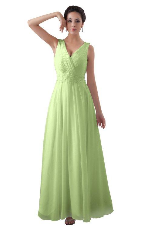 ColsBM Kalani Butterfly Modern A-line V-neck Zipper Floor Length Plus Size Bridesmaid Dresses