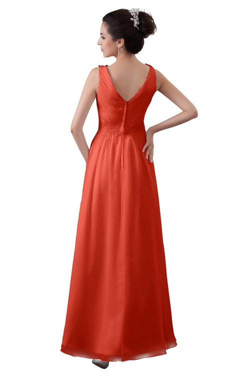 Colsbm Kalani Living Coral Bridesmaid Dresses Colorsbridesmaid