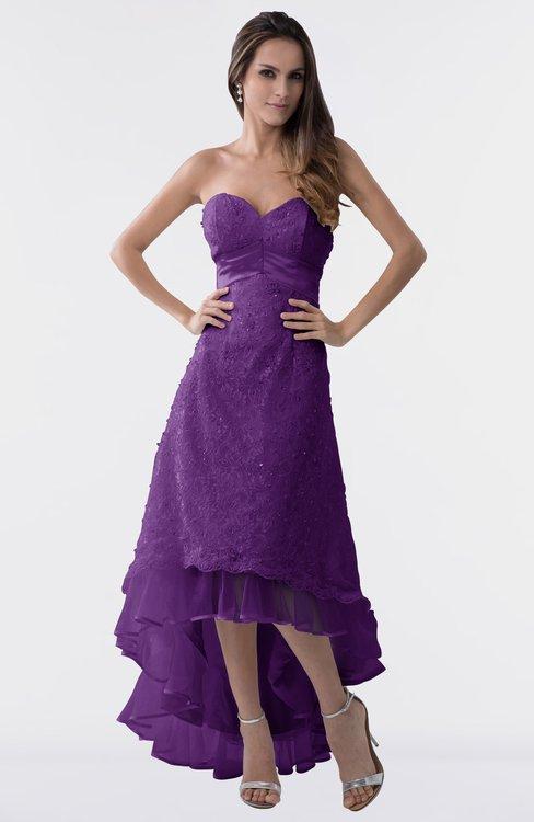 Purple Bridesmaid Dresses Amaranth Purple Color Winter Cheap Purple
