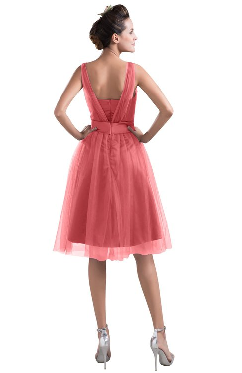 Colsbm Ashley Coral Bridesmaid Dresses Colorsbridesmaid