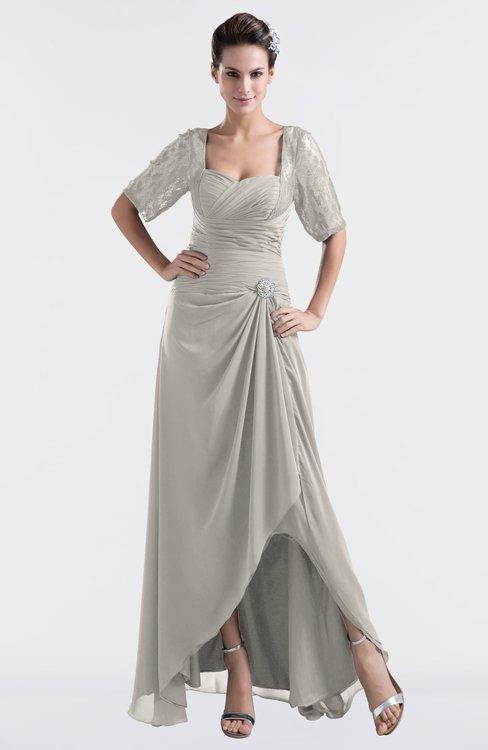ColsBM Emilia Ashes Of Roses Modest Sweetheart Short Sleeve Zip up Floor Length Plus Size Bridesmaid Dresses