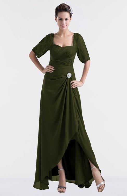 ColsBM Emilia Beech Modest Sweetheart Short Sleeve Zip up Floor Length Plus Size Bridesmaid Dresses