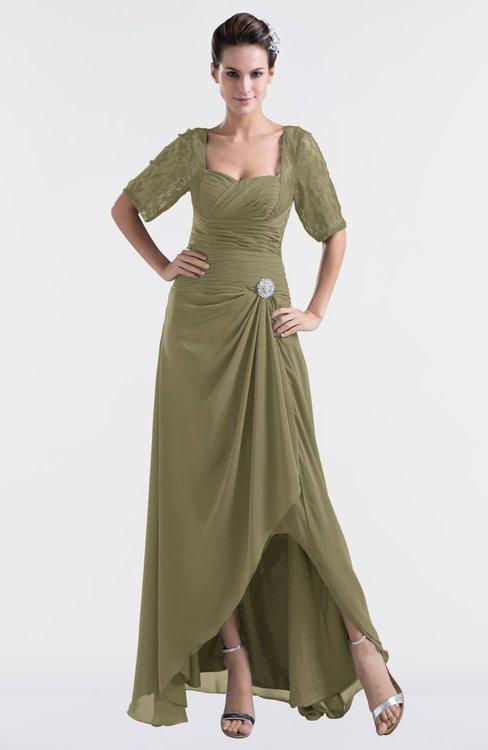 ColsBM Emilia Boa Modest Sweetheart Short Sleeve Zip up Floor Length Plus Size Bridesmaid Dresses