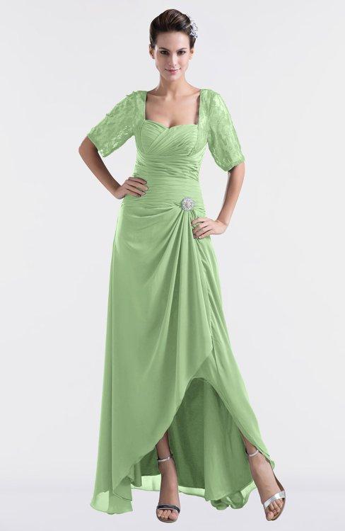 ColsBM Emilia Gleam Modest Sweetheart Short Sleeve Zip up Floor Length Plus Size Bridesmaid Dresses