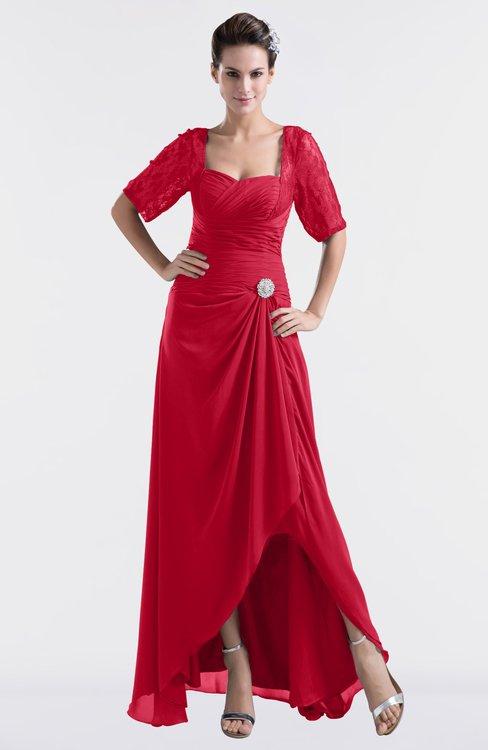 ColsBM Emilia Lollipop Modest Sweetheart Short Sleeve Zip up Floor Length Plus Size Bridesmaid Dresses