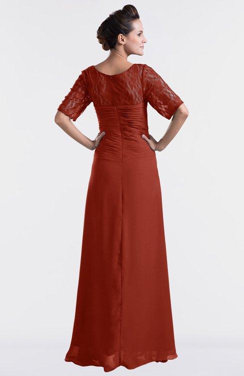 fa03788f62c ... ColsBM Emilia Rust Modest Sweetheart Short Sleeve Zip up Floor Length  Plus Size Bridesmaid Dresses