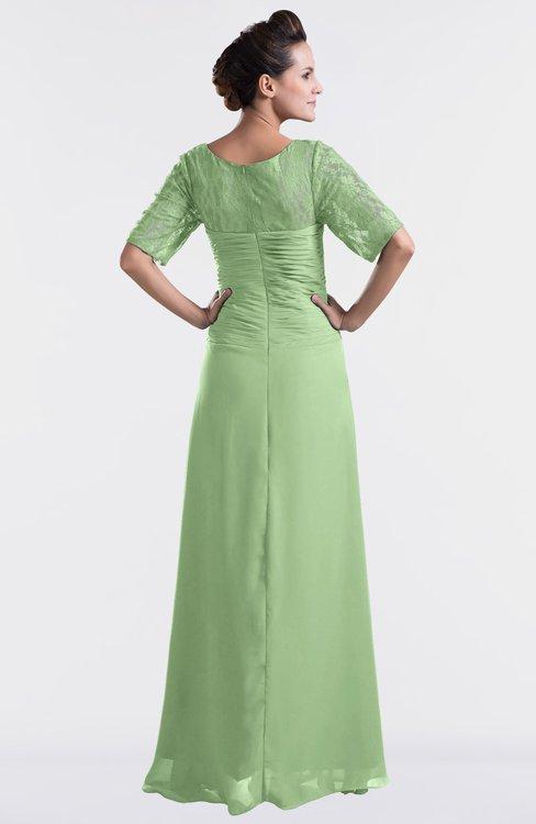 f7d13d641f79b ... ColsBM Emilia Sage Green Modest Sweetheart Short Sleeve Zip up Floor  Length Plus Size Bridesmaid Dresses