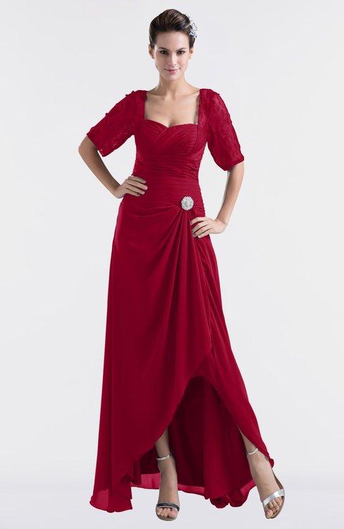 ColsBM Emilia Scooter Modest Sweetheart Short Sleeve Zip up Floor Length Plus Size Bridesmaid Dresses