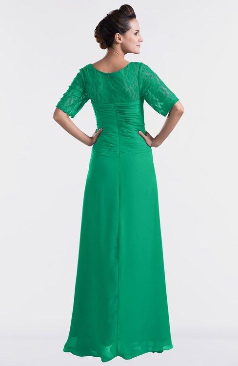 a3352f94a1cd5 ... ColsBM Emilia Sea Green Modest Sweetheart Short Sleeve Zip up Floor  Length Plus Size Bridesmaid Dresses