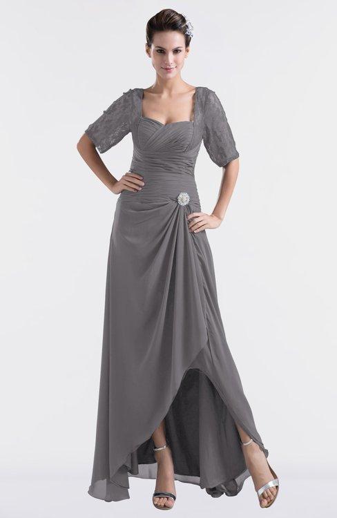 ColsBM Emilia Storm Front Modest Sweetheart Short Sleeve Zip up Floor Length Plus Size Bridesmaid Dresses