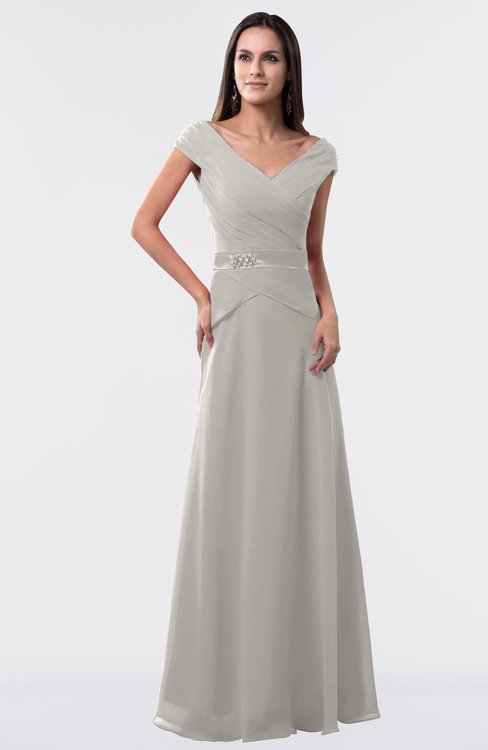 ColsBM Madelyn Ashes Of Roses Informal A-line Portrait Zipper Floor Length Ruching Plus Size Bridesmaid Dresses