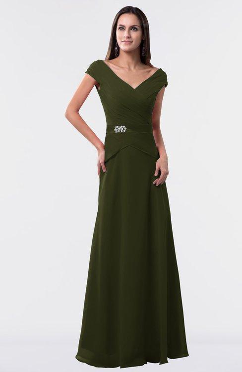 ColsBM Madelyn Beech Informal A-line Portrait Zipper Floor Length Ruching Plus Size Bridesmaid Dresses