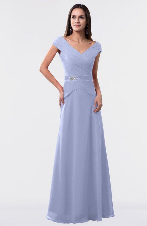 ColsBM Madelyn Blue Heron Informal A-line Portrait Zipper Floor Length Ruching Plus Size Bridesmaid Dresses