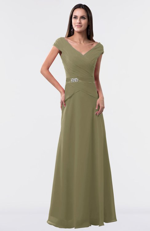ColsBM Madelyn Boa Informal A-line Portrait Zipper Floor Length Ruching Plus Size Bridesmaid Dresses