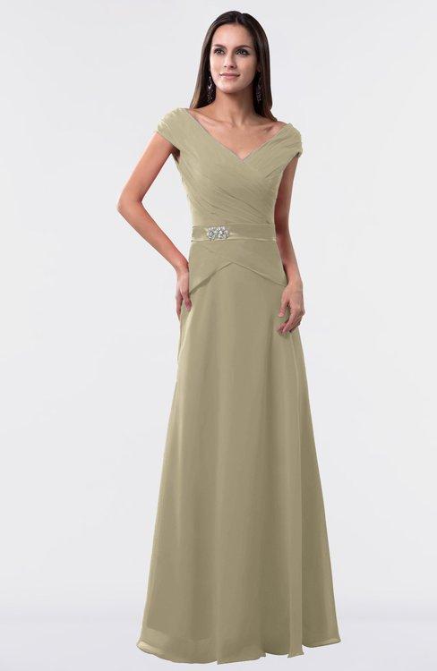 ColsBM Madelyn Candied Ginger Informal A-line Portrait Zipper Floor Length Ruching Plus Size Bridesmaid Dresses