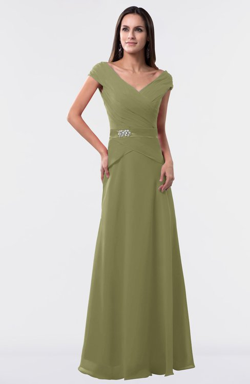 ColsBM Madelyn Cedar Informal A-line Portrait Zipper Floor Length Ruching Plus Size Bridesmaid Dresses