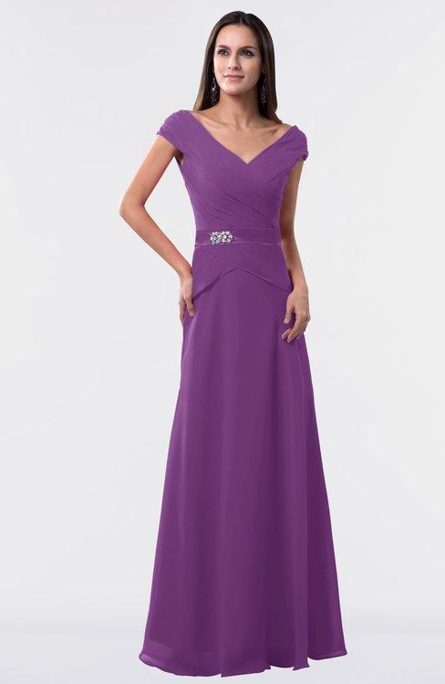 ColsBM Madelyn Dahlia Informal A-line Portrait Zipper Floor Length Ruching Plus Size Bridesmaid Dresses
