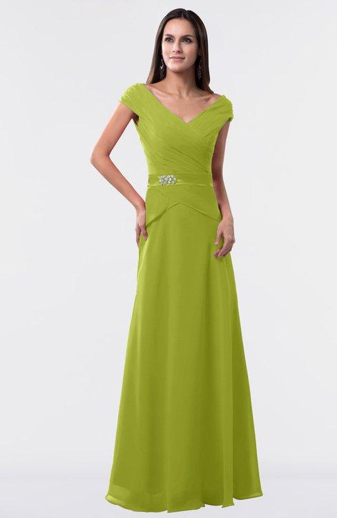 ColsBM Madelyn Green Oasis Informal A-line Portrait Zipper Floor Length Ruching Plus Size Bridesmaid Dresses
