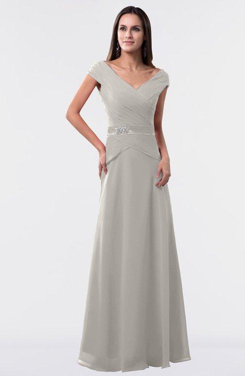 ColsBM Madelyn Hushed Violet Informal A-line Portrait Zipper Floor Length Ruching Plus Size Bridesmaid Dresses