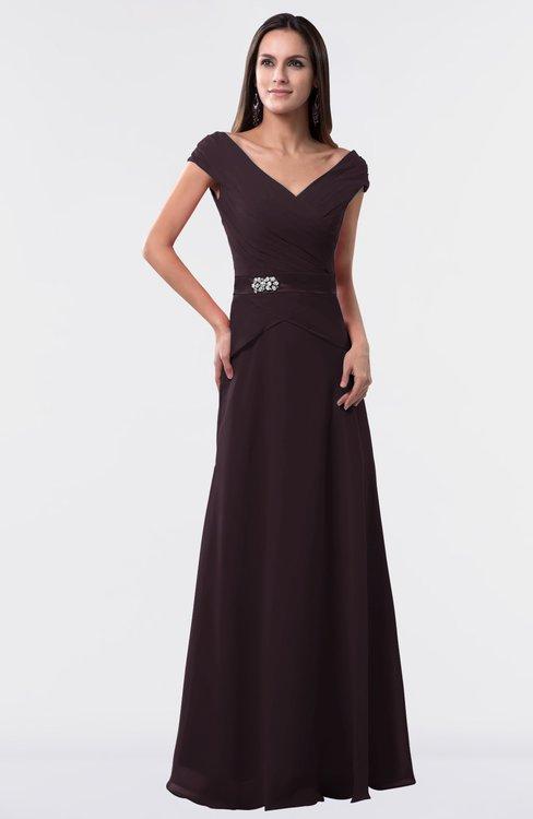 ColsBM Madelyn Italian Plum Informal A-line Portrait Zipper Floor Length Ruching Plus Size Bridesmaid Dresses